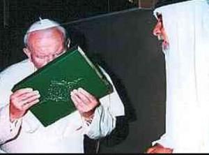 pope kissing koran