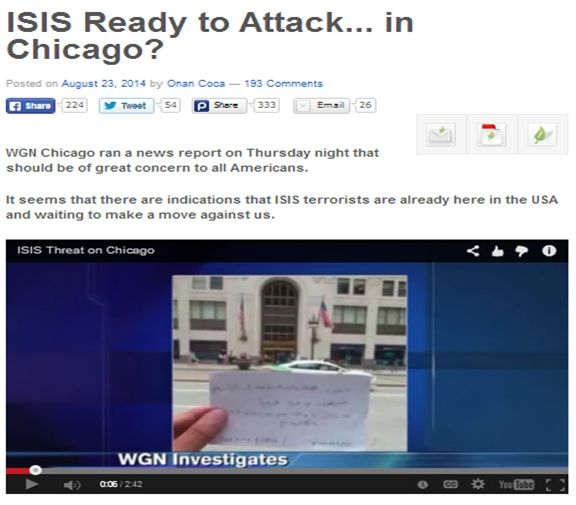 WGN report ISIS